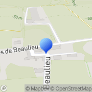 Carte de Berteau S.A. Saintes, France