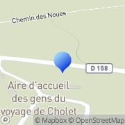 Carte de Cholet T.P. S.A. Cholet, France