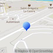 Carte de Eternit Saint-Grégoire, France
