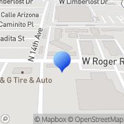 Map Keefe Enterprises All Terrain Landscaping, LLC Tucson, United States