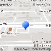 Map Amf Desert Hills Lanes Phoenix, United States