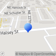 Map Halsey Coin Laundry Fairview, United States