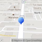 Map Richardson Exteriors Worthington, United States