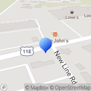 Map Morristown Bible Book Store Morristown, United States