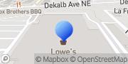 Map Lowe's Fencing Installation Atlanta, United States