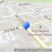 Map Clanton Furniture Co Clanton, United States