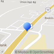 Map Bank Of America Clarksville, United States