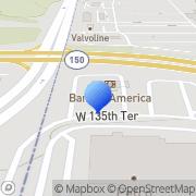 Map Bank of America Kansas City, United States