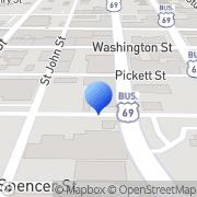 Map POOLMAN Greenville, United States