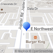 Map Bank of America ATM Dallas, United States