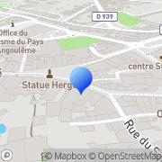 Carte de C.I.O. Direction de Groupe Charentes-Haute-Vienne Angoulême, France