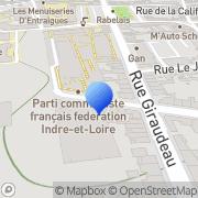 Carte de Baudin Chateauneuf Tours, France