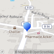 Carte de Barytine de Chaillac S.A. Chaillac, France