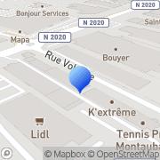 Carte de Doumenge S.A. Montauban, France
