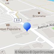 Carte de B.P.Q.A. S.A. - Banque Populaire du Quercy et Agenais Cahors, France