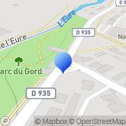 Carte de Calberson Eure et Loire S.A. Le Coudray, France