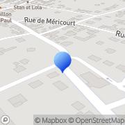 Carte de Etablissements Desoubry S.A.R.L. Freneuse, France