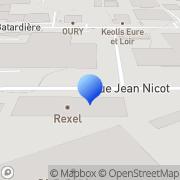 Carte de Gefco S.A. Saint-Jean-de-la-Ruelle, France