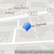 Carte de Del Distribution Electronique S.A. Les Clayes-sous-Bois, France