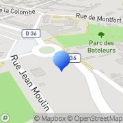 Carte de Dako S.A. Trappes, France