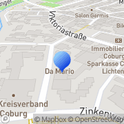 Karte Da Mario Coburg, Deutschland