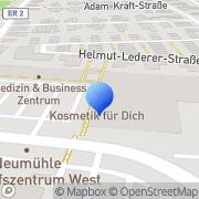 Karte Dr. med. Hilde Kreis, Dr. med. Bianca Flor Frauenärztinnen Erlangen, Deutschland