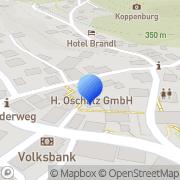 Karte Oschatz GmbH Wiesenttal, Deutschland