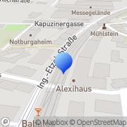 Karte Glaserei Brigitte JAKUBITZKA GmbH Innsbruck, Österreich