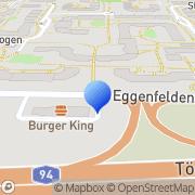 Karte Burger King München, Deutschland