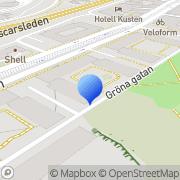Karta Stall & Co i Majorna Göteborg, Sverige