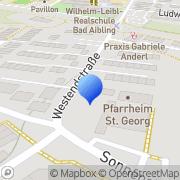 Karte Kath. Pfarramt St. Georg Bad Aibling, Deutschland