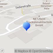 Karte Selb-Marktredwitz GmbH Energieversorgung Selb, Deutschland
