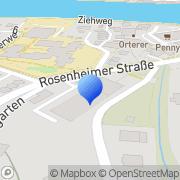 Karte Autohaus Weber Wasserburg am Inn, Deutschland
