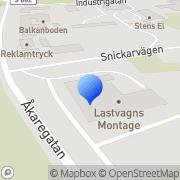Karta Lastvagnsmontage i Eda AB Charlottenberg, Sverige