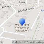 Kort Ordruplund Charlottenlund, Danmark