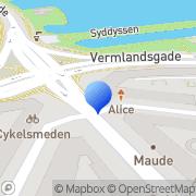 Kort Amagerbro Kiosk København, Danmark