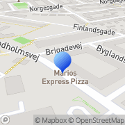 Kort Brigadekiosken København, Danmark