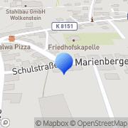 Karte Bauwerkstrockenlegung Wolkenstein, Deutschland