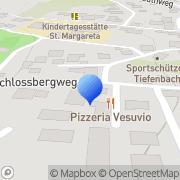 Karte Inh. Claudia Langella Pizzeria Vesuvio Tiefenbach, Deutschland