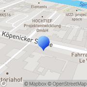 Karte A&O Berlin, Deutschland