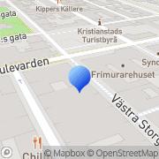 Karta Skivlagret Kristianstad, Sverige