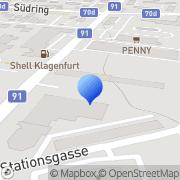 Karte LUSTGARTEN Lustig Garten und Klagenfurt, Österreich