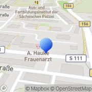 Karte Dr. med. Annett Hauke FÄ für Frauenheilkunde und Geburtshilfe Bautzen, Deutschland
