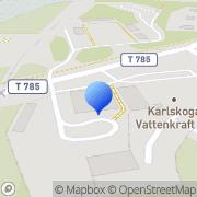 Karta Fortum Generation AB Hällefors, Sverige