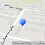Karte ERF Elektro-Elektronik GmbH Weißwasser, Deutschland