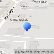 Karta Aarvag´s Bargning & Mek AB Östersund, Sverige