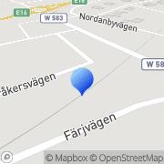 Karta Sjöbergs Livs i Mockfjärd AB Mockfjärd, Sverige