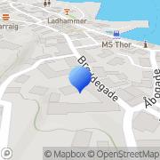 Kort Havneshoppen Gudhjem, Danmark