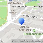 Karte APT Physikalische Therapie Am Stadtpark GmbH Graz, Österreich