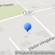 Karta Blombacka Handelsträdgård Hultsfred, Sverige